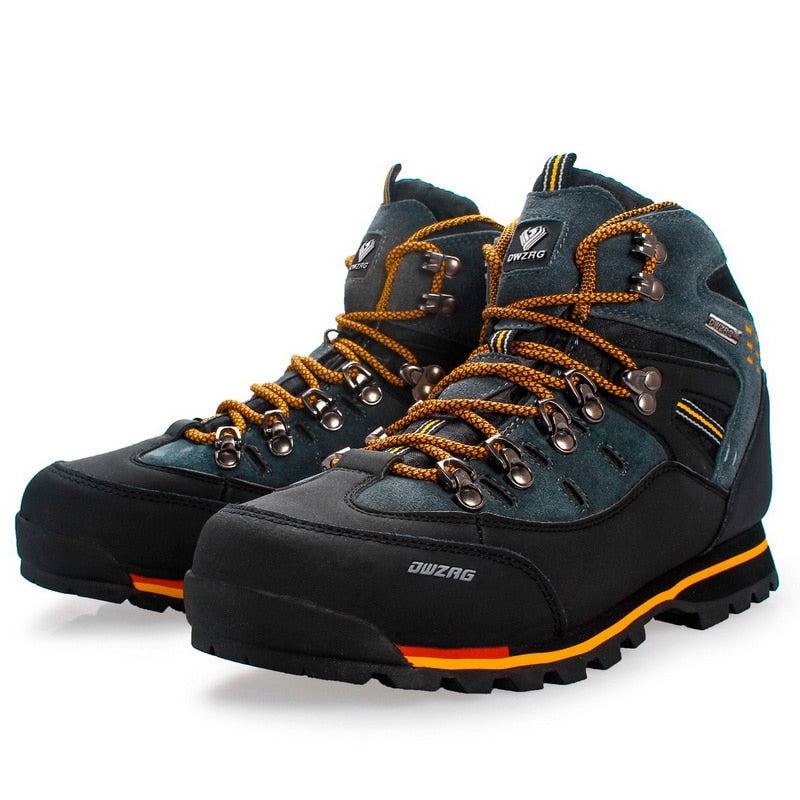 Shoes Waterproof Leather Shoes Climbing & Fishing Shoes New Outdoor Shoes Men High Top Winter Boots Trekking Sneaker - Zebrant