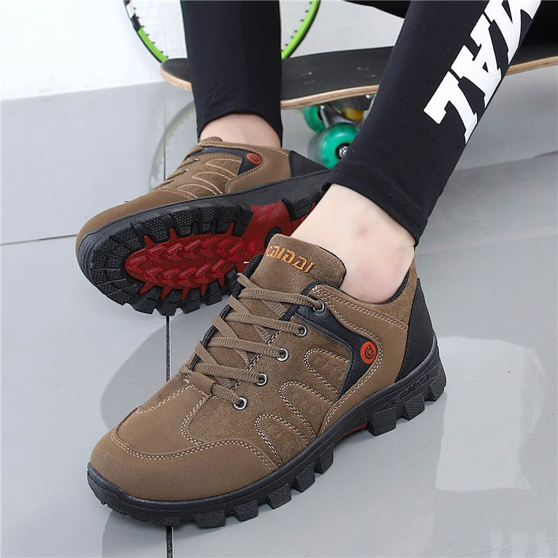 Men's Waterproof Hiking Shoes Travel Shoes Autumn Outdoor Non-slip Wear Sneakers Men Lace Up Trekking Climbing Sports Shoes Male - Zebrant