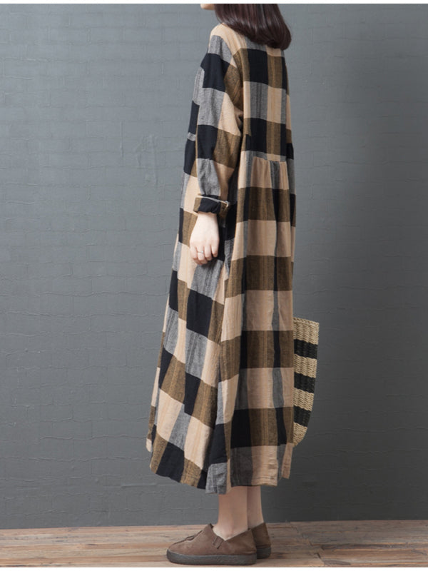 Casual Striped Long Dress - Zebrant