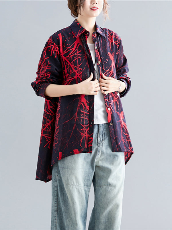 Loose A-line Cropped Shirt - Zebrant