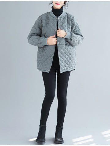 Loose Diamond Shaped Casual Short Coat - Zebrant