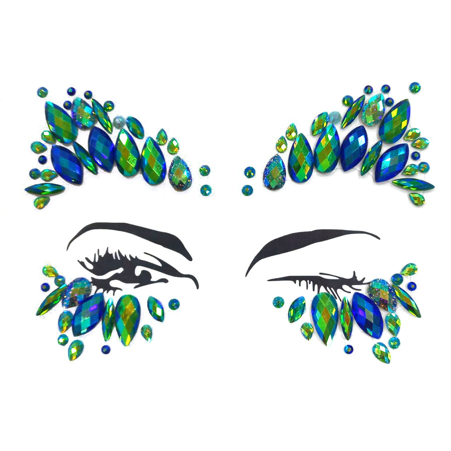 Rhinestone Tattoo Face Jewels Crystals Glitter for Rave Party Festival - Zebrant