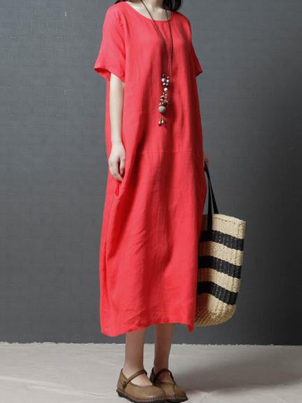 Clean Color Casual Long Dress, Three Colors - Zebrant