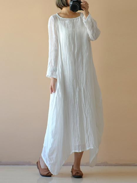 Original Cotton Fashion Long Dress, Five Colors - Zebrant