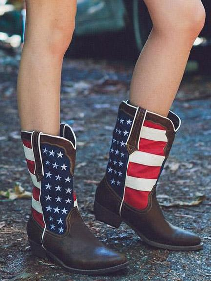 National Flag Boots Shoes - Zebrant