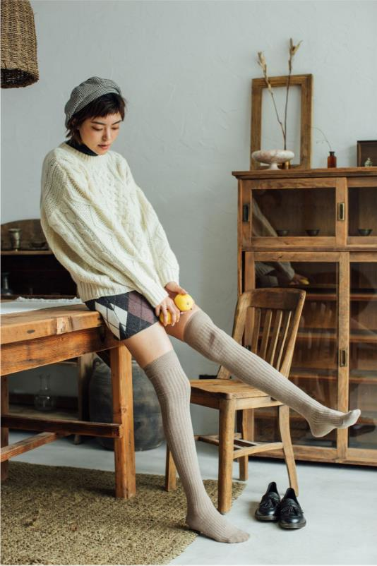 Autumn winter Cotton Knee-high stockings