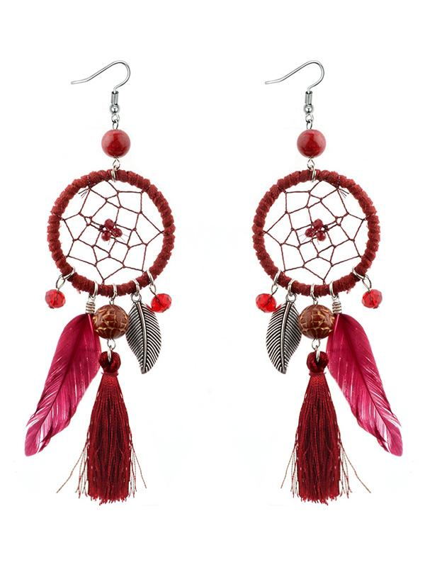 Bohemia Feather Earring Accessories - Zebrant