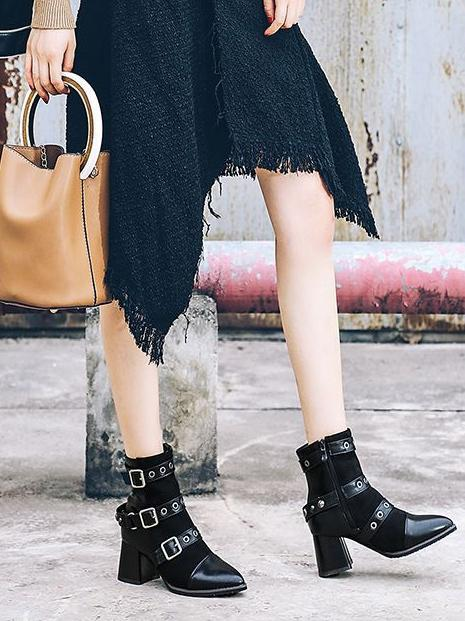Fashion Bandage Ankle Boots Shoes - Zebrant