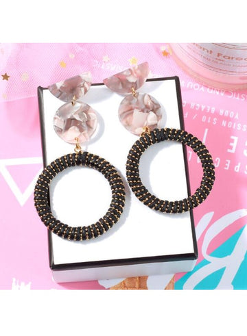 Fashion exaggerated acrylic acetate earrings