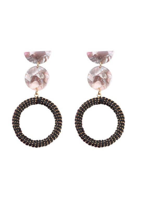 Fashion exaggerated acrylic acetate earrings - Zebrant