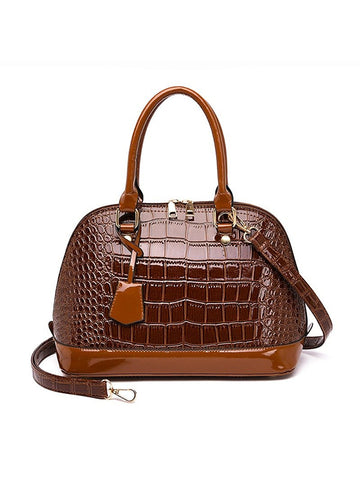 Crocodile Pattern Handbag Temperament Shoulder Bag Shell Bag - Zebrant