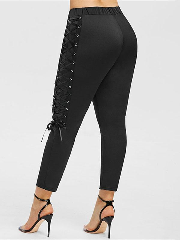 Vintage Bandage Solid Leggings Pants - Zebrant