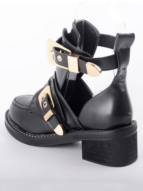 Fashion Chunky Heel Sandals Boots - Zebrant