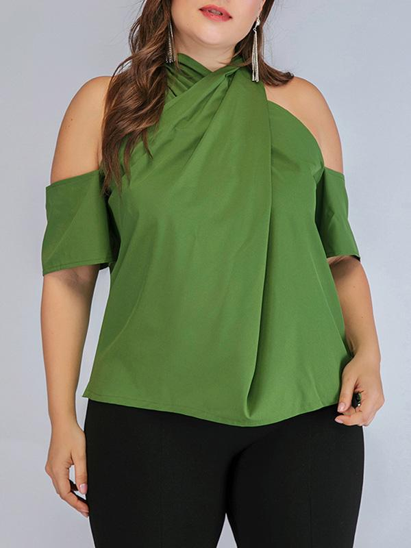 Vintage Over Size Off-The-Shoulder Solid T-Shirts Tops - Zebrant