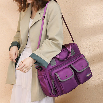 Nylon Waterproof Crossbody Women Shoulder Bag