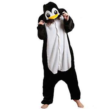 Adults' Kigurumi Pajamas Penguin Onesie Pajamas Polar Fleece - Zebrant