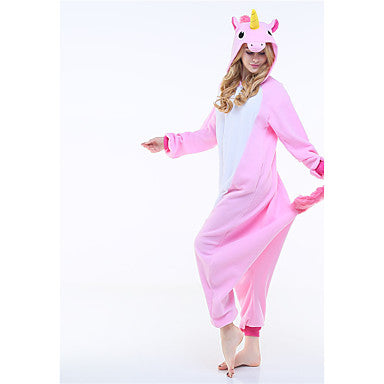 Adults' Kigurumi Pajamas Unicorn Onesie Pajamas Polar Fleece - Zebrant