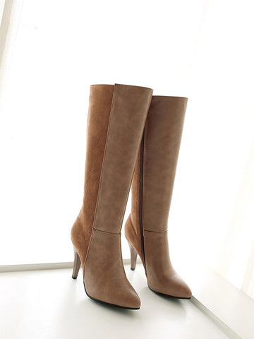 Fashion Lady Stovepipe Boots - Zebrant
