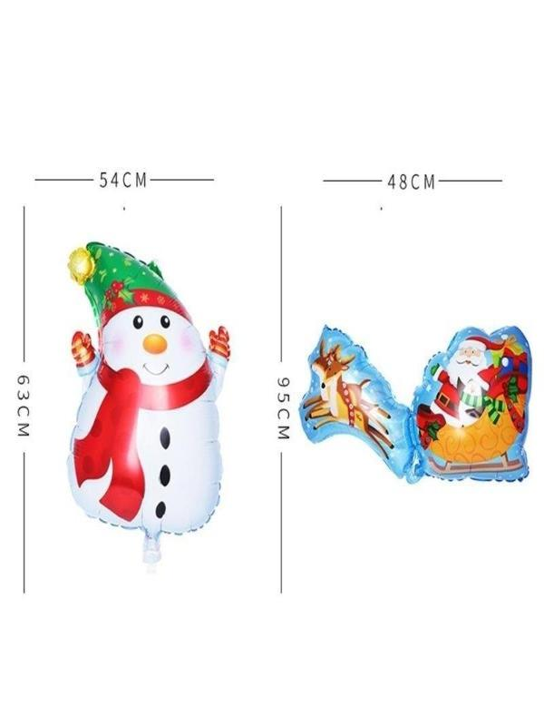 Christmas Foil Balloons Merry Christmas Classical Decoration - Zebrant