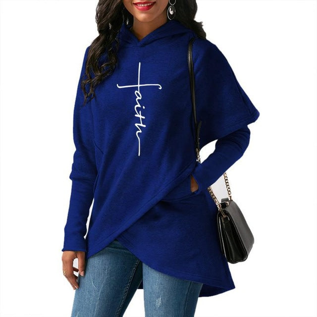 Women Autumn Hoodies Sweatshirts Long Sleeve with Pockets