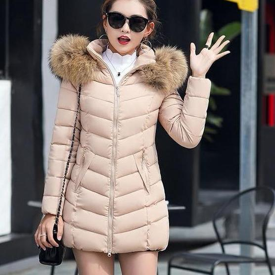 Winter Down Coat Jacket Hooded Parka with Fur Collar - Zebrant