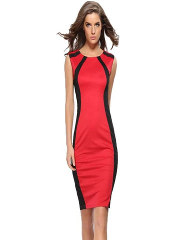 Super Fashion Office Pencil Dress, Three Colors - Zebrant