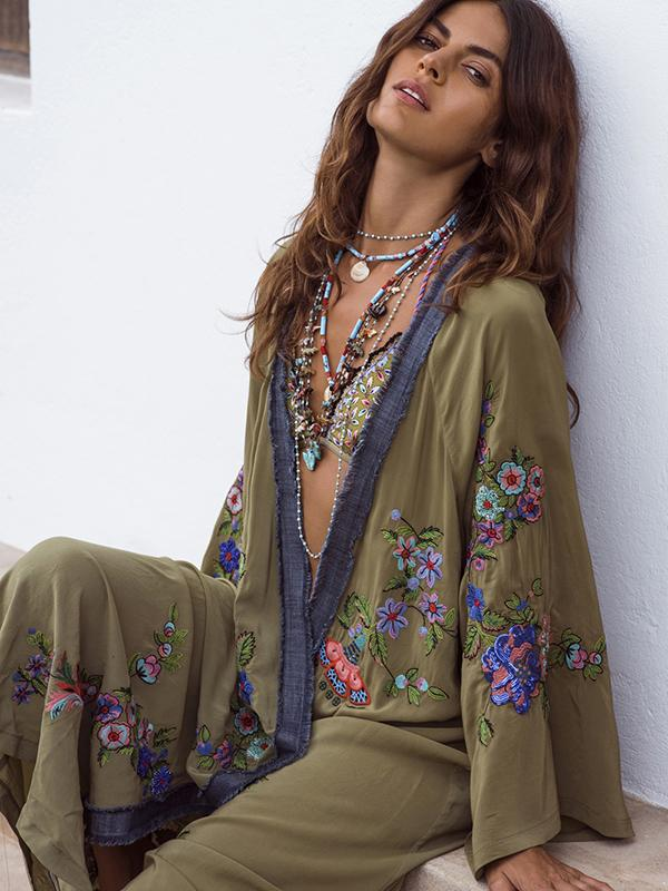 Beautiful  National Style Loose Cover-Ups - Zebrant