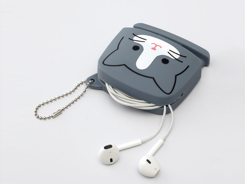 PuniLabo Kitty Squeeze Pouch Earphone Holder