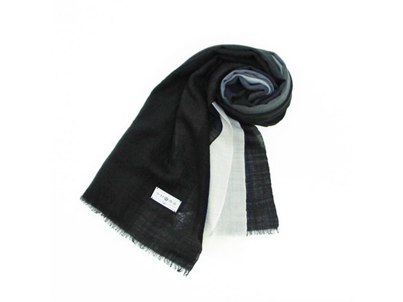 Black to White Ombre Stole