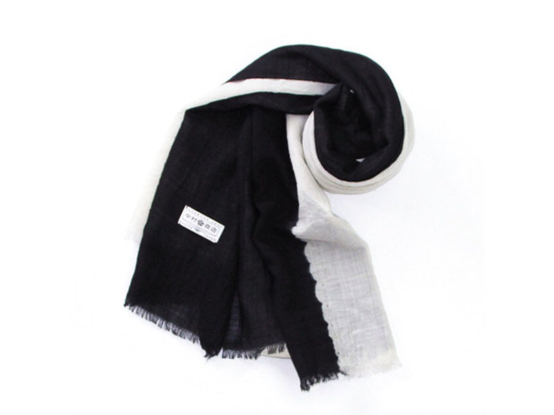 Black and White Tie-dye Stole