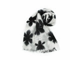 Snowflake Pattern Black and White Stole