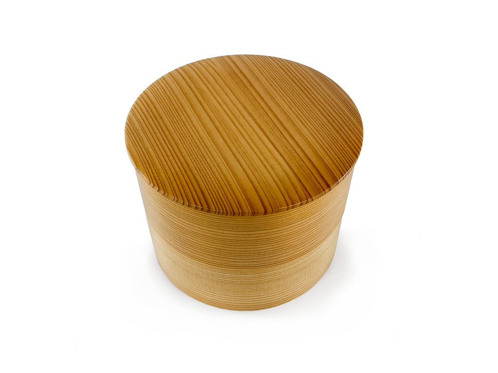 Magewappa Round Double-Stacked Bento Box
