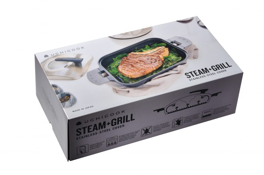 STEAM GRILL Stainless Steel Cover