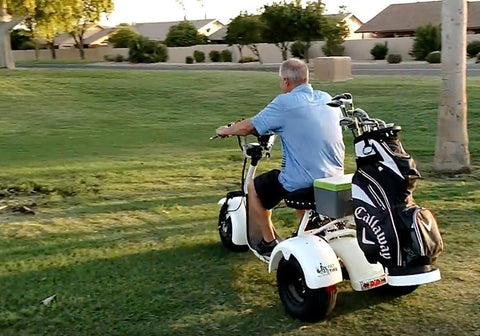 Fast Electric Scooter >> Fat Tire 3-Wheel Rebel Trike Electric Golf Scooter | Single Rider Electric Golf Scooter – Top ...