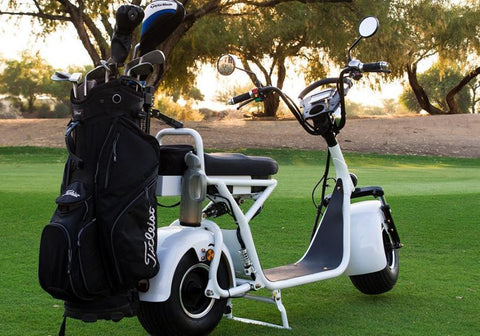 "Fat Tire ""Cruiser"" Electric Golf Scooter Back View"