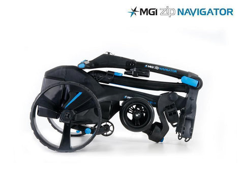 MGI Zip Navigator Lithium Electric Golf Caddy Collapsed
