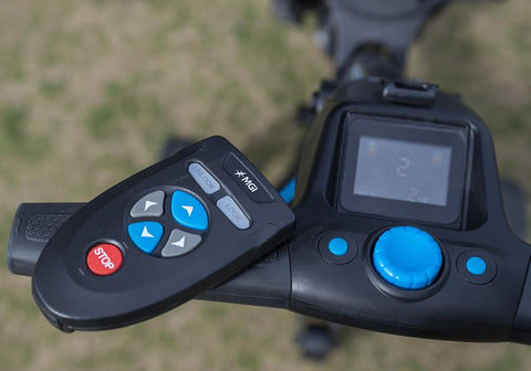 Image of MGI Zip Navigator Lithium Electric Golf Caddy Control