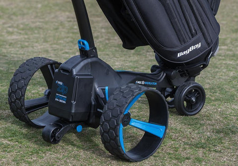 Image of MGI Zip Navigator Lithium Electric Golf Caddy Wheels
