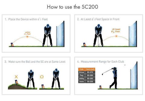 Image of Swing Caddie SC200 Golf Launch Monitor - How to Use