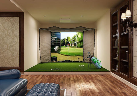 OptiShot 2 Golf-In-A-Box Pro Simulator Package Home Room Setup Example