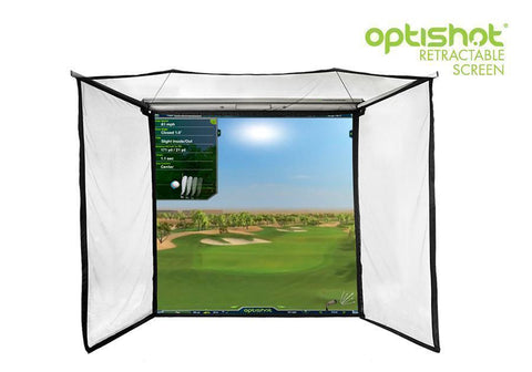 OptiShot 2 Golf-In-A-Box Pro Simulator Package Retractable Screen Enclosure