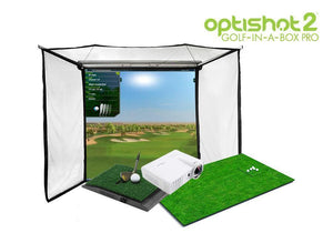 OptiShot 2 Golf-In-A-Box Pro Simulator Package
