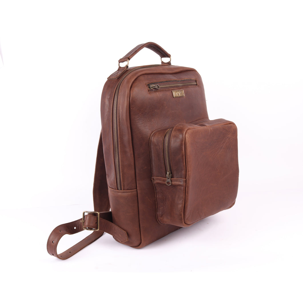 Diesel-Brown Buffalo Backpack