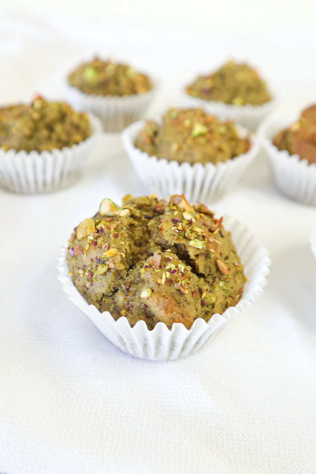 Green Tea Pistachio Muffins
