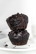 Load image into Gallery viewer, Fudgy Double Chocolate Chip Cupcake