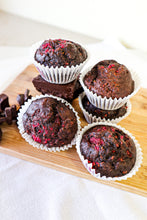 Load image into Gallery viewer, Raspberry Chocolate Muffins