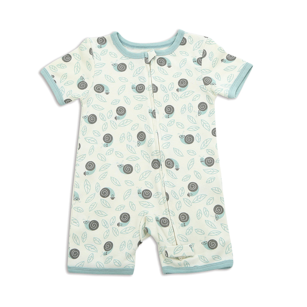 Zippered Snail Romper