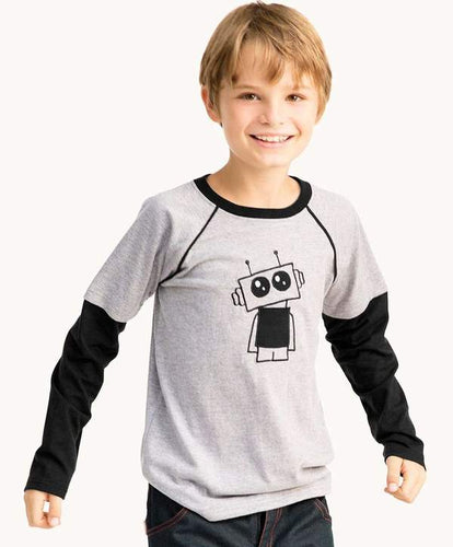 Grey Robot Shirt