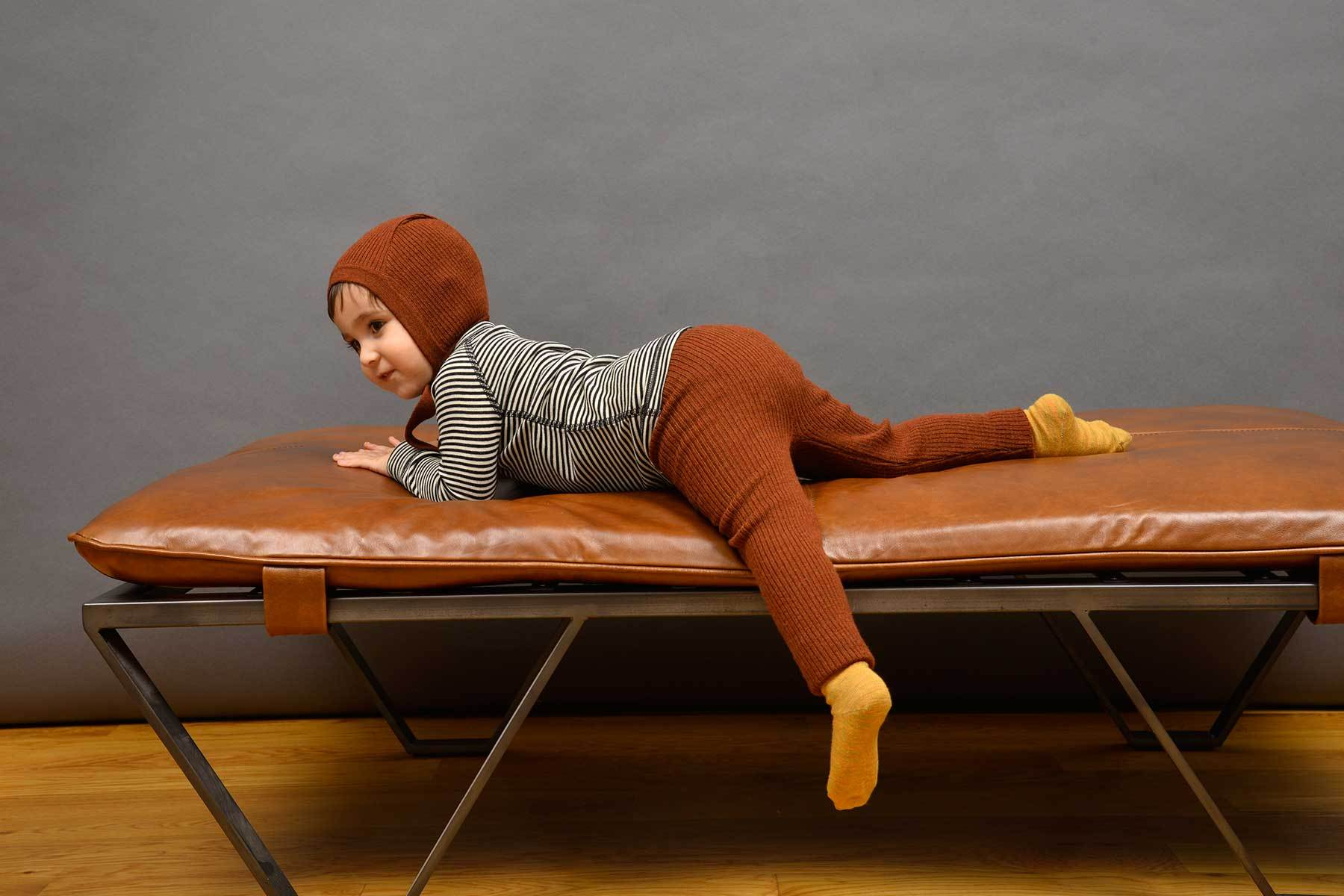 Nui Knit Leggings- Rust