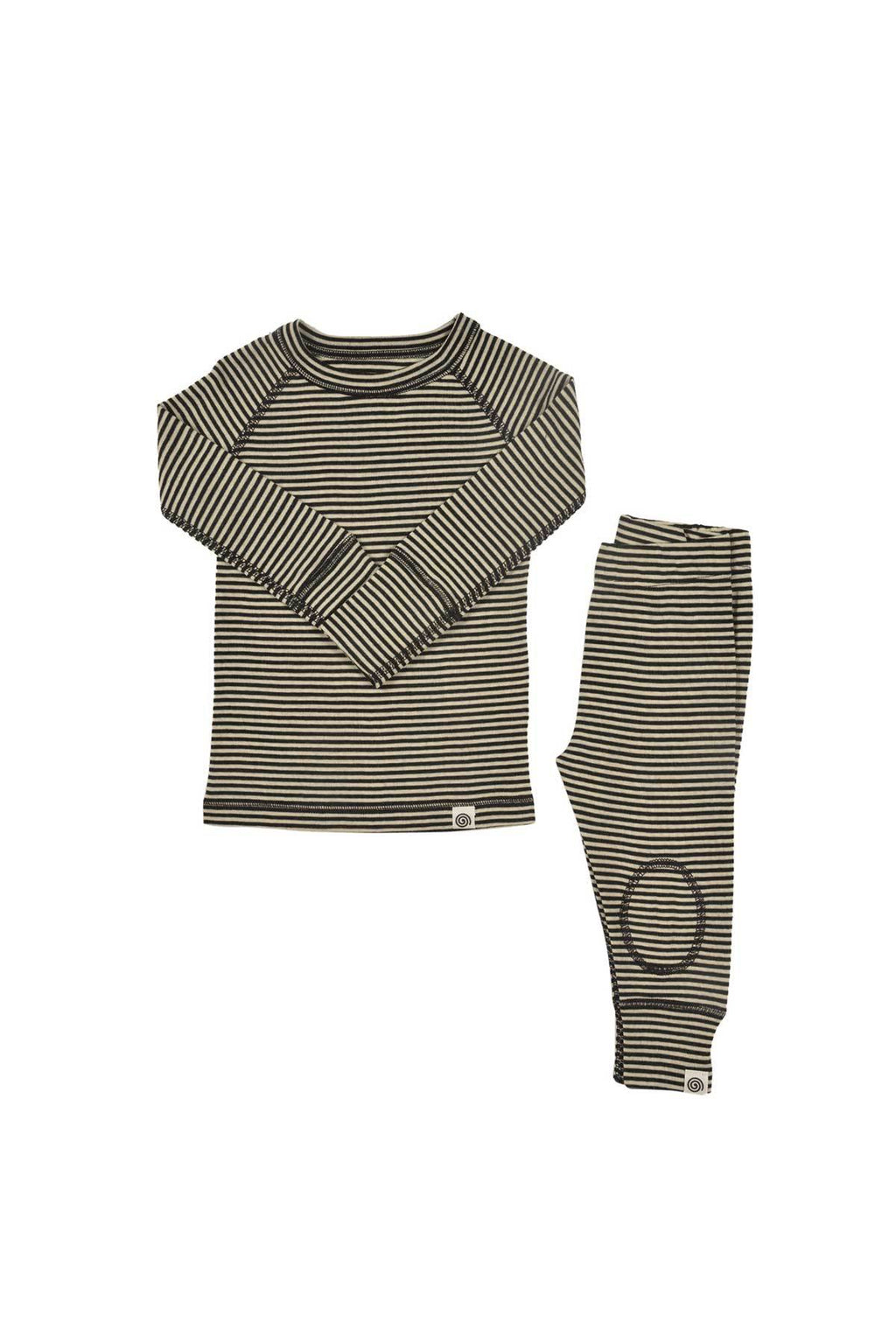 Merino Thermals Set- Black and White
